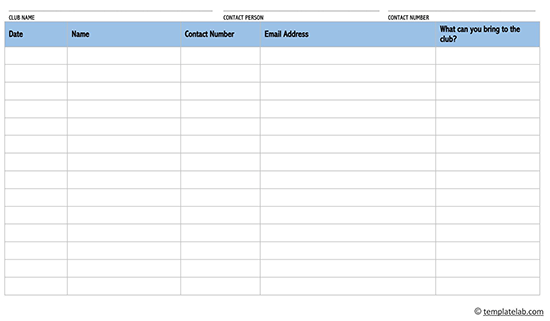 event sign in sheet template excel