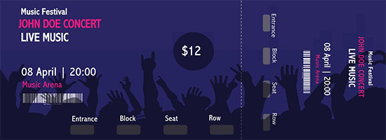 blank ticket template word