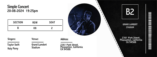 numbered event ticket template free 01