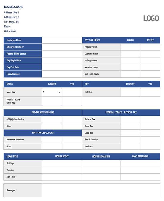 biweekly time card template 02