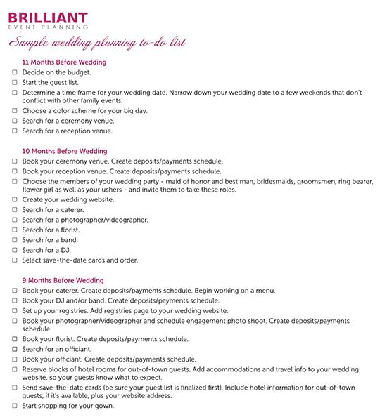diy wedding checklist