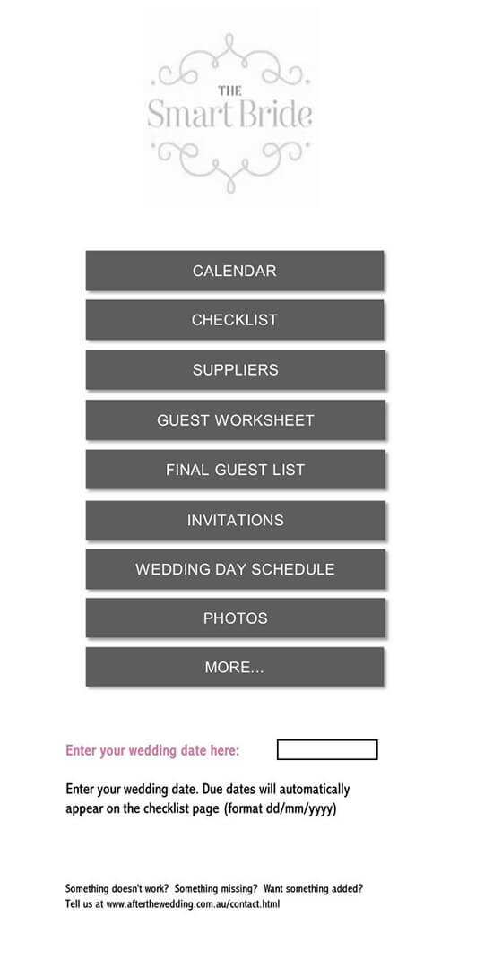 wedding budget spreadsheet with deposits