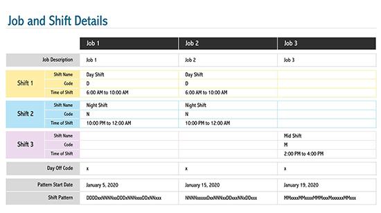 employee schedule template - google sheets