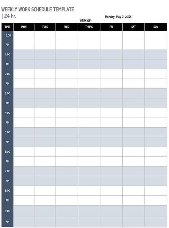 monthly schedule template excel 01