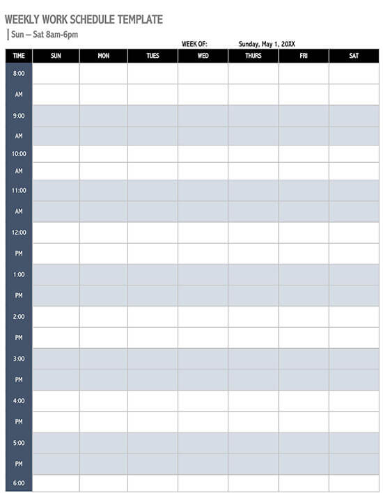 daily schedule template 01