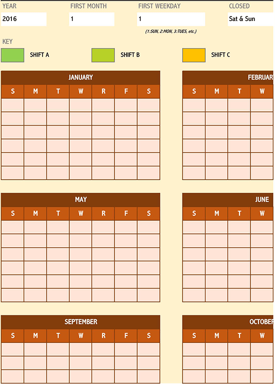 12 hour shift schedule template excel 02