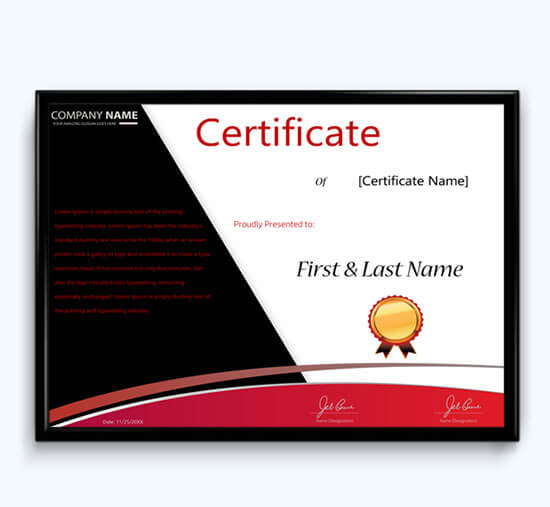 long service award certificate template 01