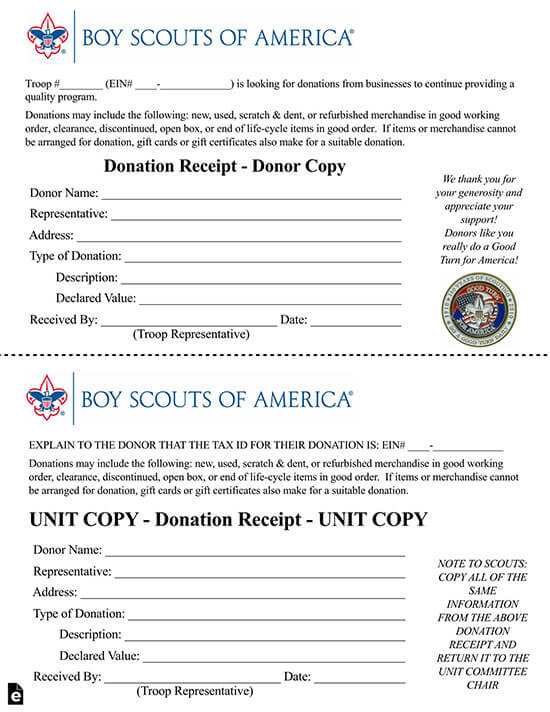 donation receipt template google docs 07