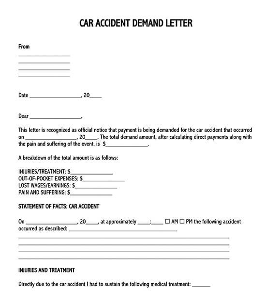 sample demand letter for return of personal property