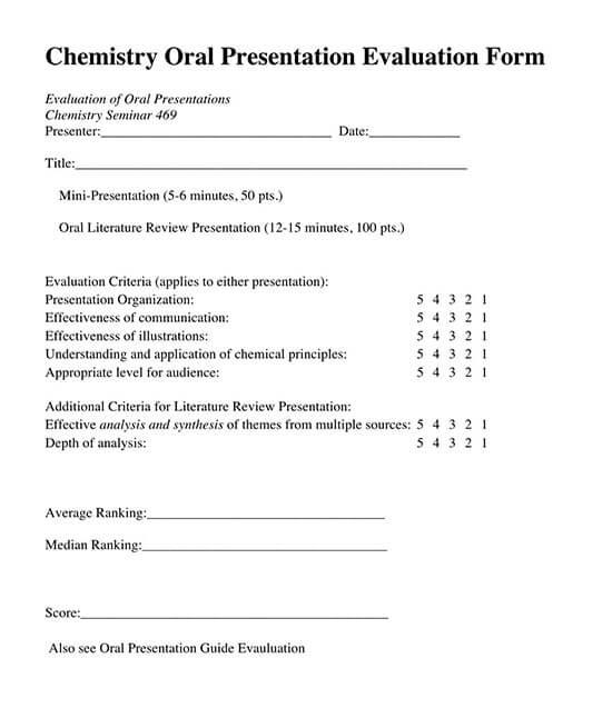 speaker presentation evaluation form