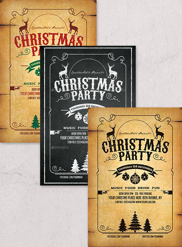 Christmas Menu Sample Editable