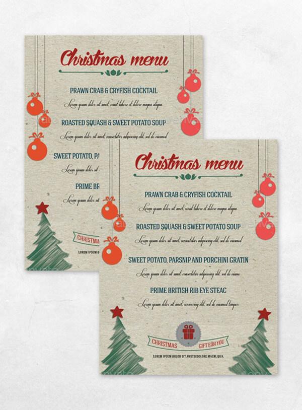 Christmas Menu Sample