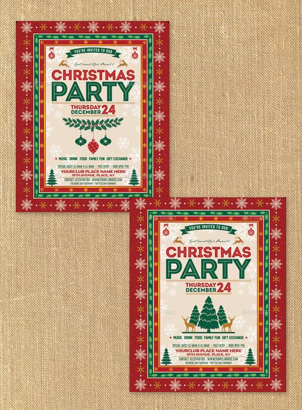 Christmas Party Menu Simple