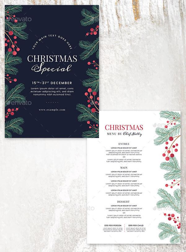 Christmas Special Menu Sample