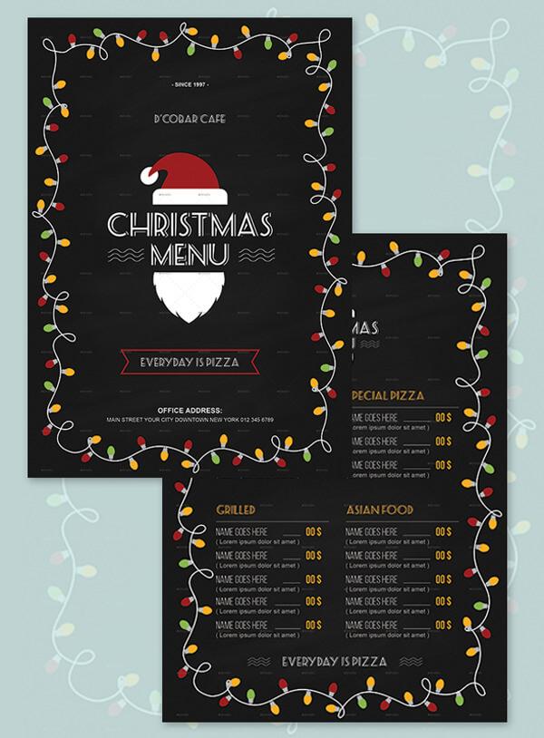 Christmas menu Free