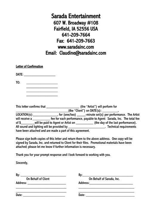 confirmation letter sample pdf 01