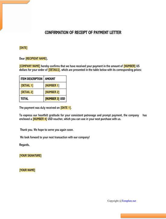 training confirmation letter sample 01