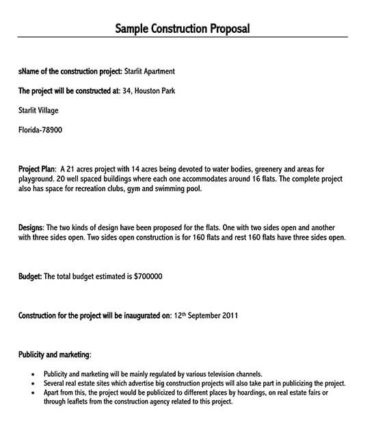 construction proposal template pdf free download 01