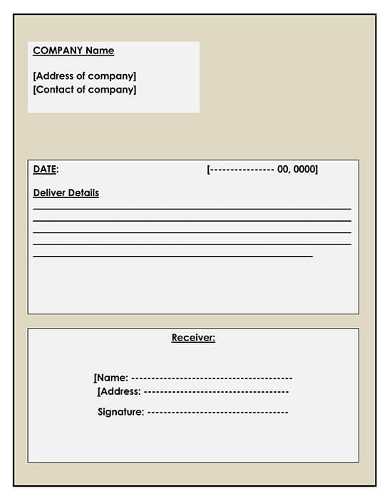 Delivery Receipt Template Example 02