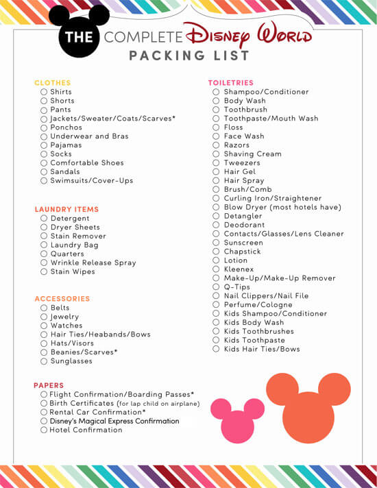 Disney-World-Packing-List