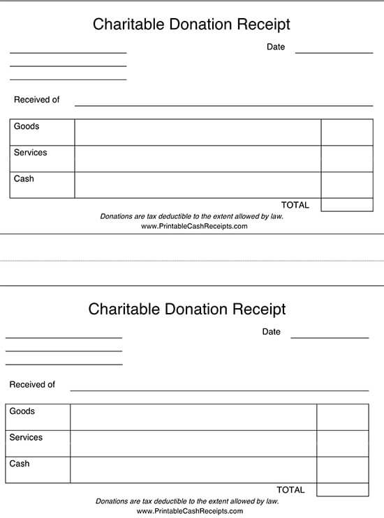 donation receipt template google docs