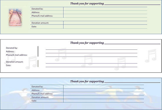 school donation receipt template