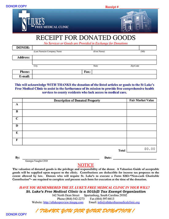 school donation receipt template 03