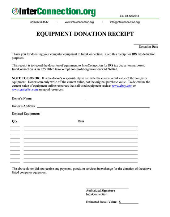 donation receipt template 04
