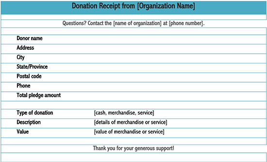 church donation receipt template 05