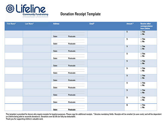donation receipt template excel 05