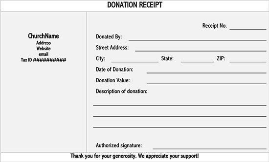 school donation receipt template 05