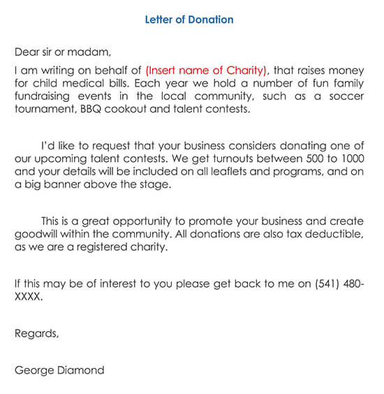 Donation Request Letter 04