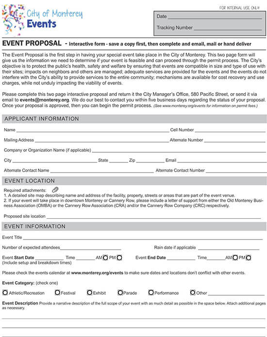 free event proposal template doc 02