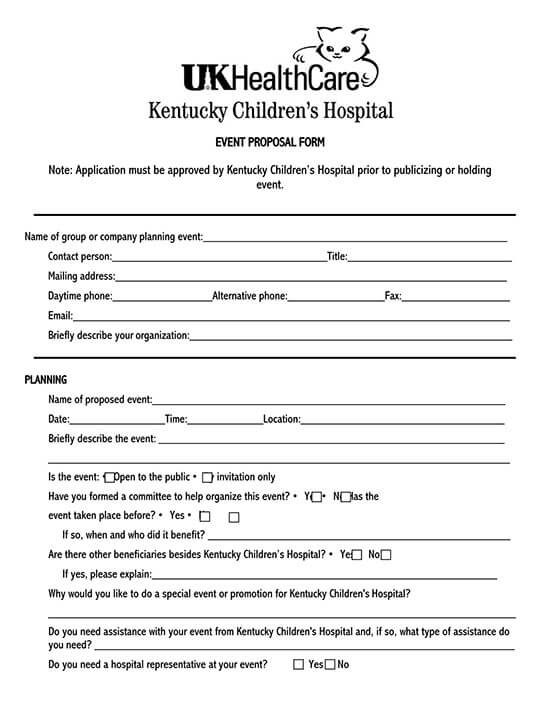 free event proposal template doc
