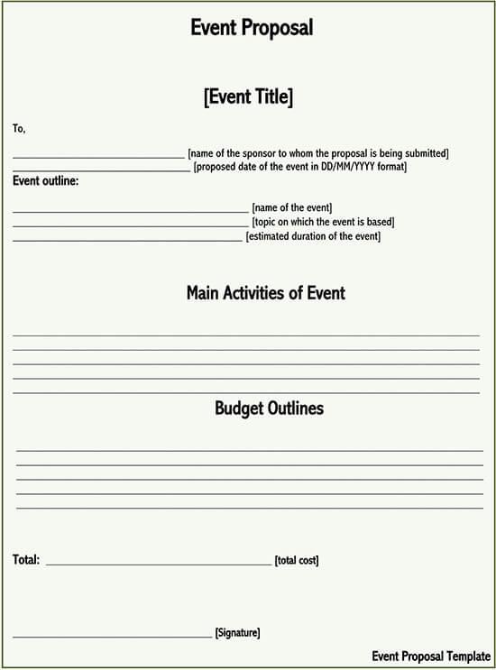 event proposal template google docs