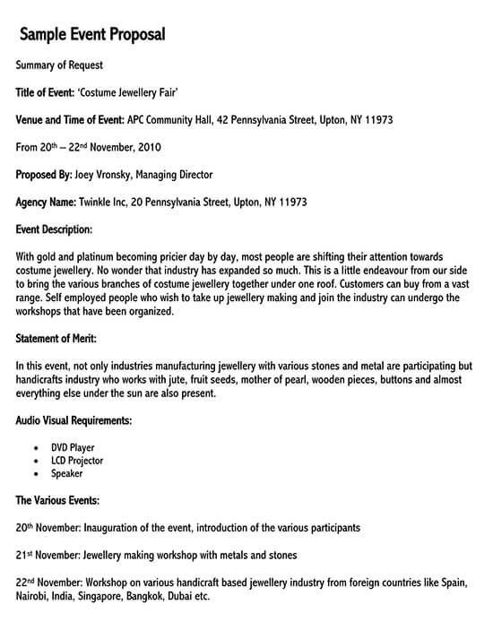 event proposal sample pdf