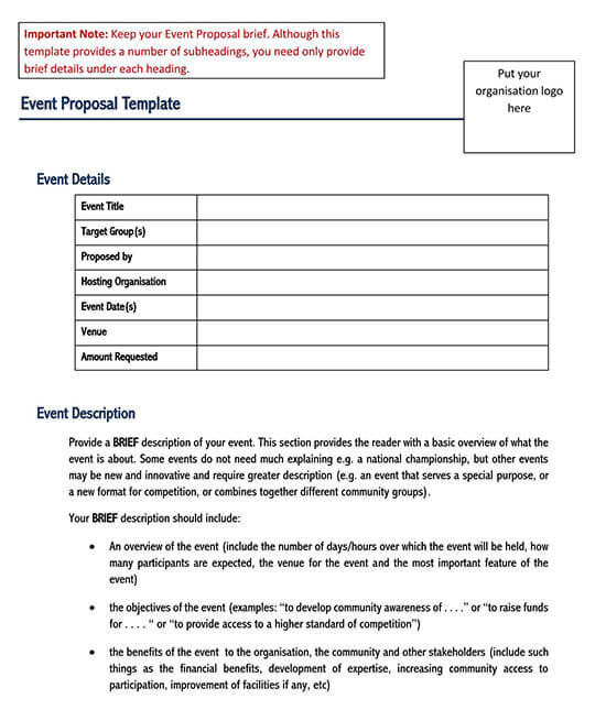 free event proposal template doc 01
