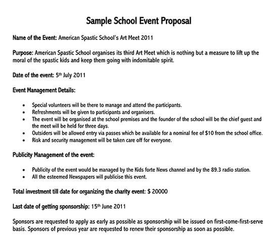 Sample Proposal Letter For Event from www.doctemplates.net