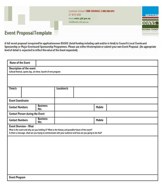 church event proposal template 01