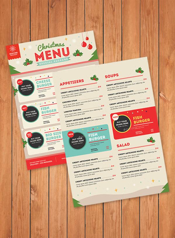 Fast-Food-Christmas-Menu-Sample