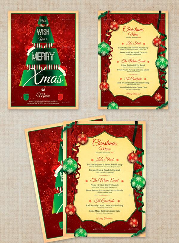 Free Christmas Menu Template