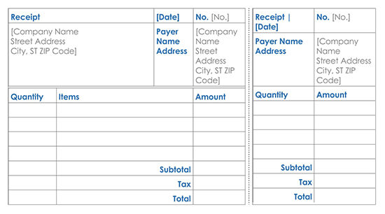 Goods Delivery Receipt Template