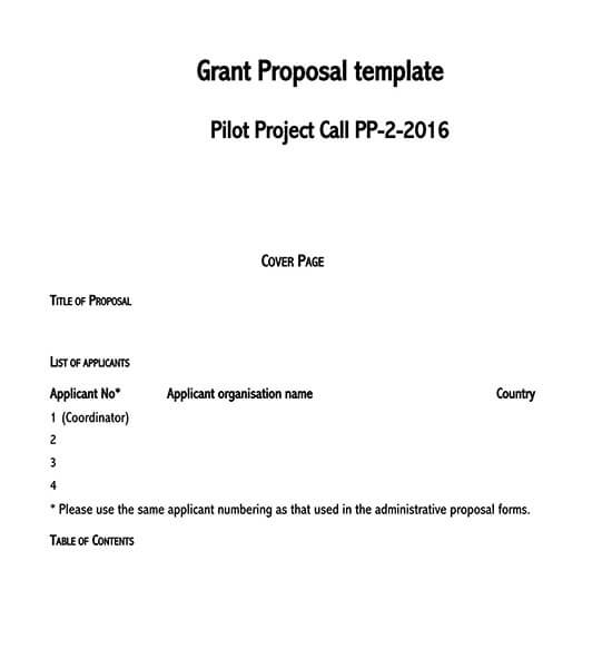 grant proposal template for nonprofit 01