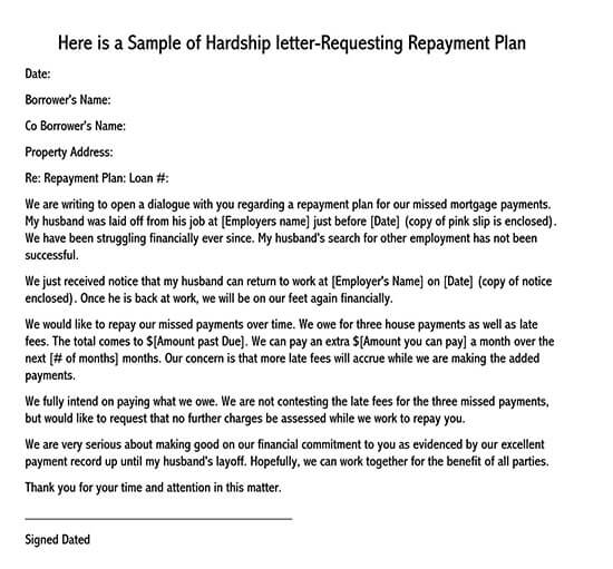 financial hardship letter for fee waiver sample