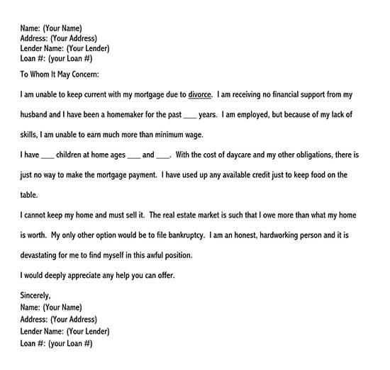 debt hardship letter 01
