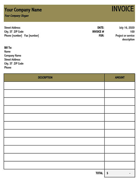 tax invoice template excel 02