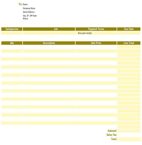 retail invoice format in excel sheet free download 02