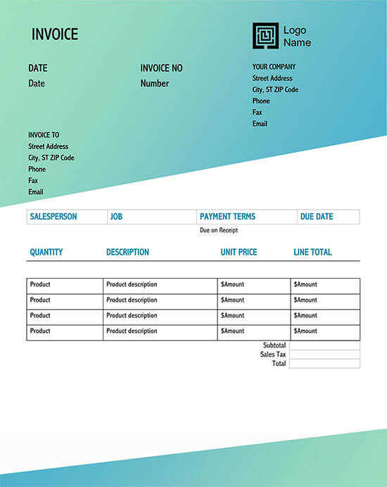Invoice Templates Word