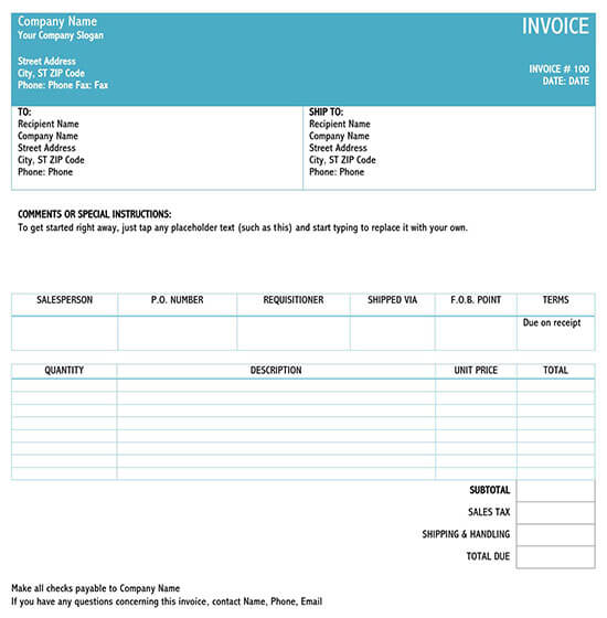 service invoice template word download free 02