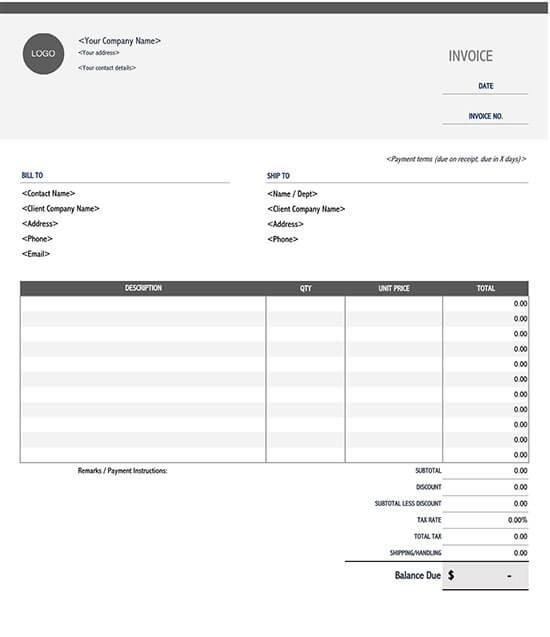 itemized invoice